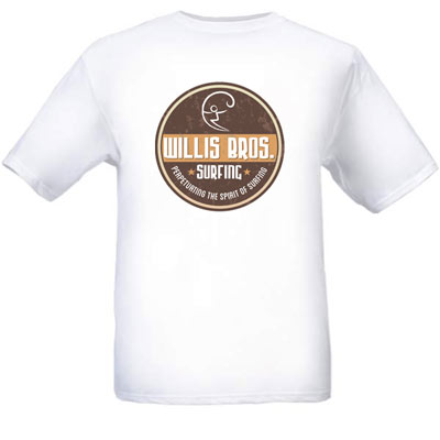 Cave Wall Logo Willis Brothers Surfing T-shirt Product Photo